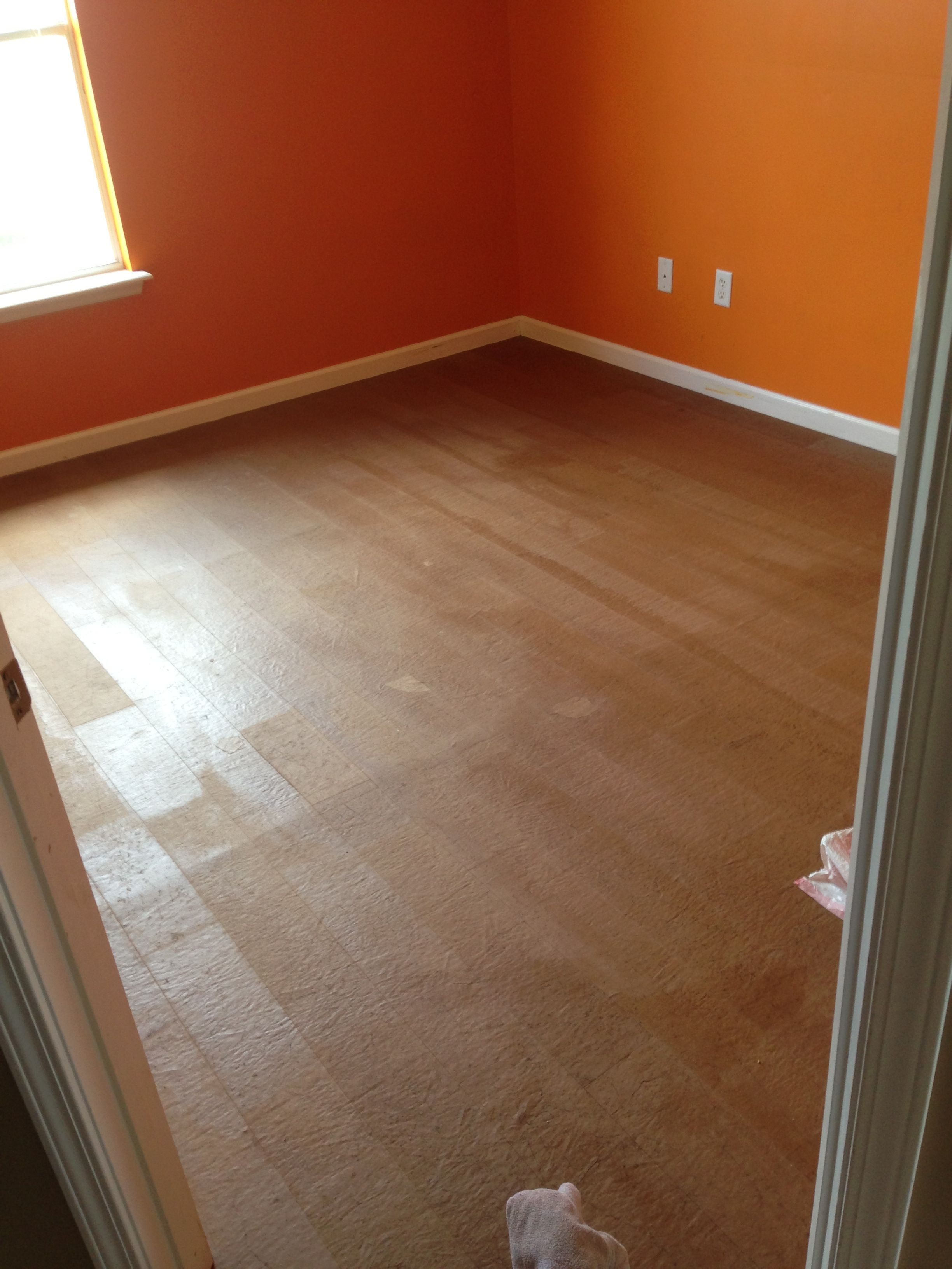 Got the paper floors all laid once glue dries i will stain
