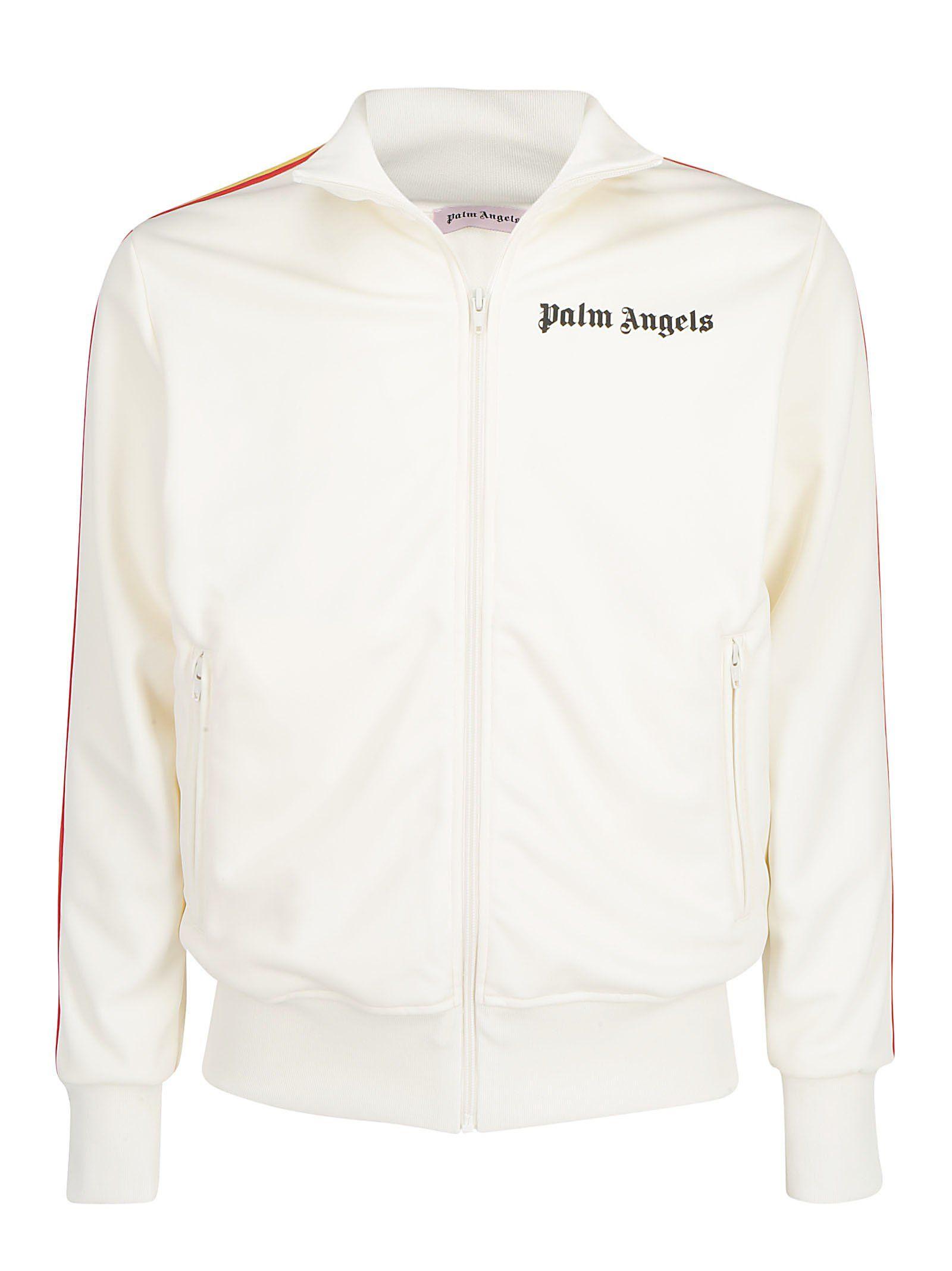 Palm Angels Rainbow Stripe Logo Track Jacket In White Modesens Jackets Track Jackets Rainbow Stripes [ 2136 x 1600 Pixel ]