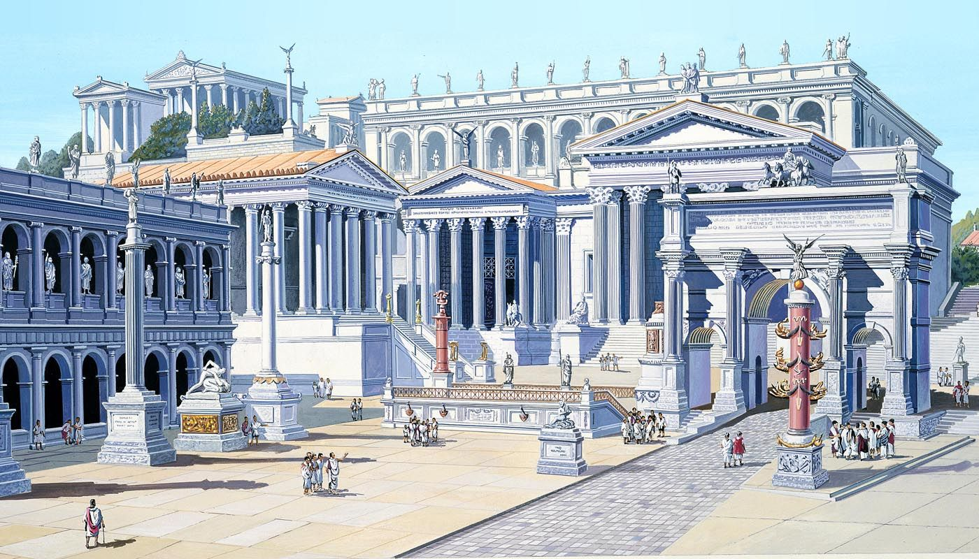 The Forum, Rome's main business and trading center