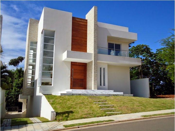 Construindo minha casa clean lar exterior pinterest for Casa moderna todos santos