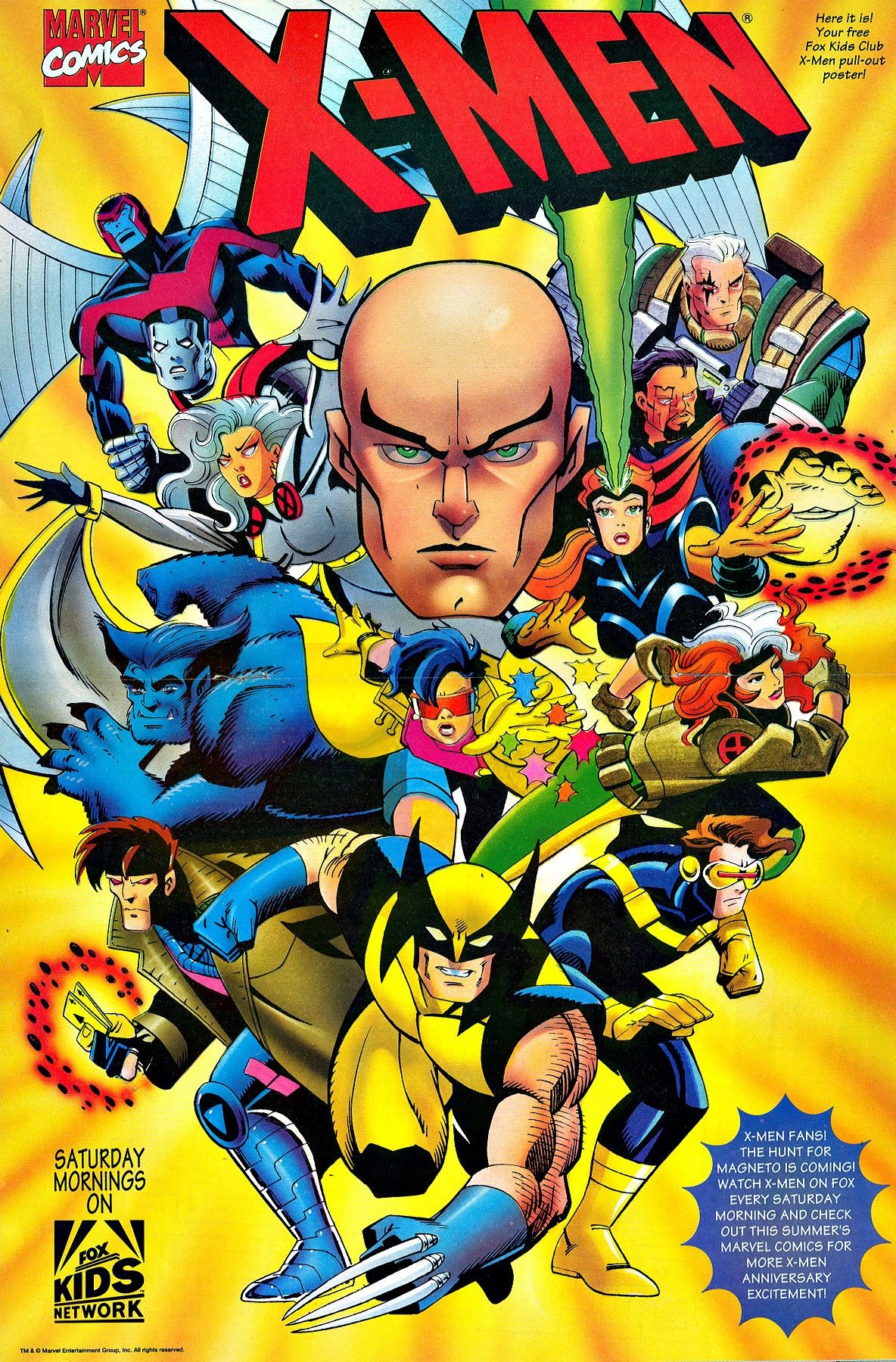 X Men Animated Fox Kids Poster In 2020 X Men Xmen Art Comics