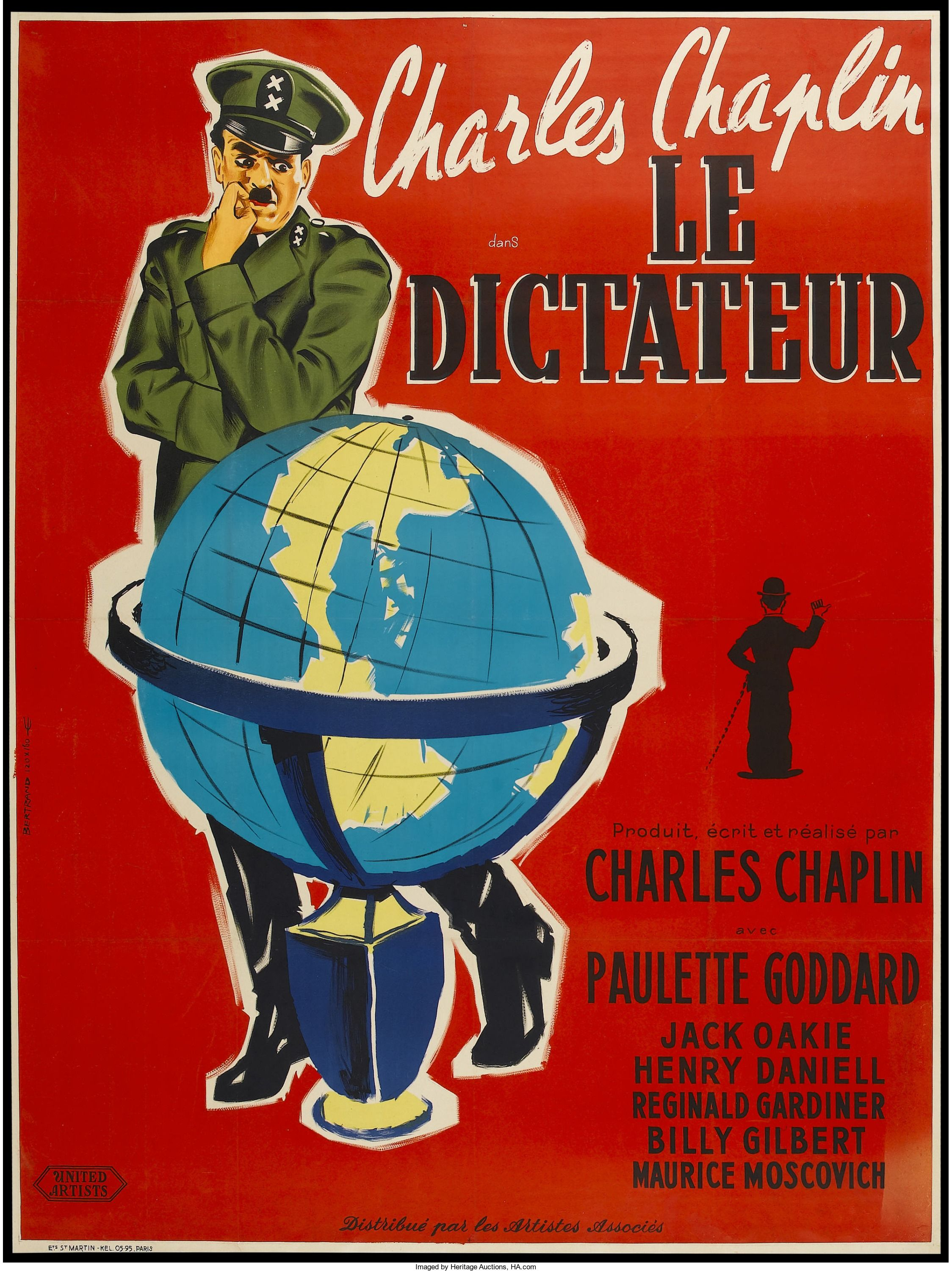 The Great Dictator (United Artists, R1950s). French