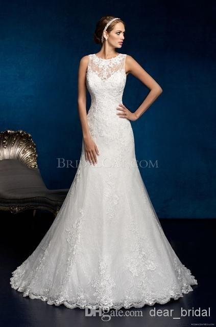 Cheap Couture Gown - Discount Beach Wedding Dresses a Line High ...