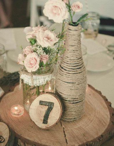 Most popular rustic wedding pins casamento decorao casamento e click pic for 27 diy wedding centerpieces rustic wood and twine diy wedding decorations on a budget junglespirit Gallery