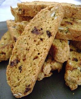 Jo and Sue: Pumpkin Biscotti with Toffee, Choc Chips, and Pump...