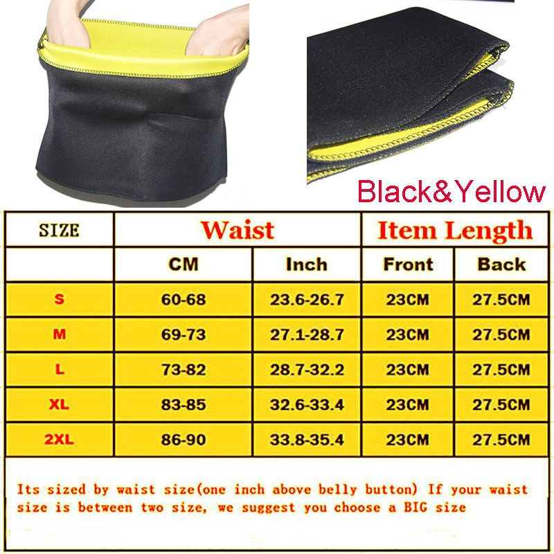 6f053ed81e Waist Trimmer Exercise Wrap Belt Slim Burn Fat Sweat Weight Loss Body  Shaper GS