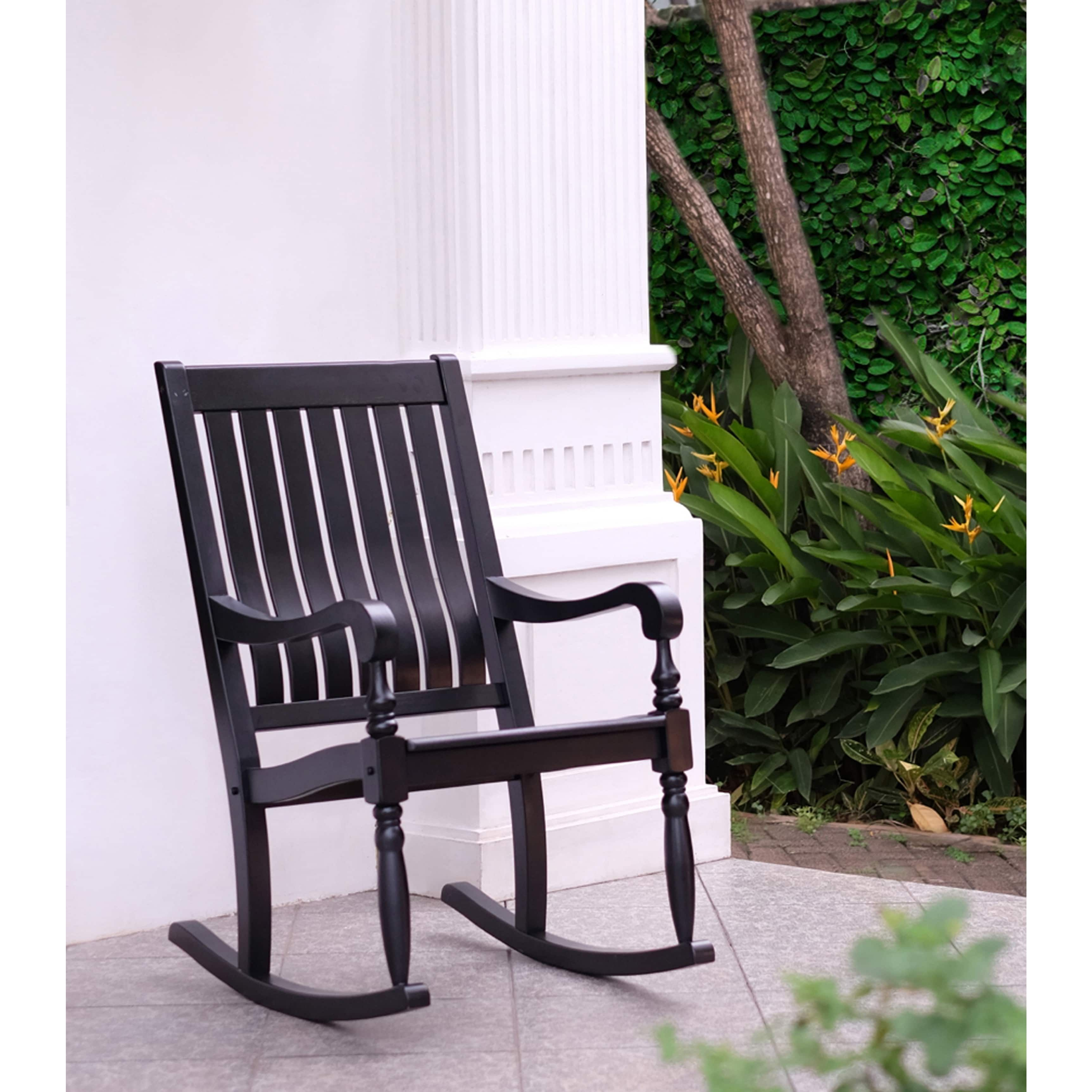 Peachy Lyon Black Mahogany Porch Rocking Chair Free Shipping Unemploymentrelief Wooden Chair Designs For Living Room Unemploymentrelieforg