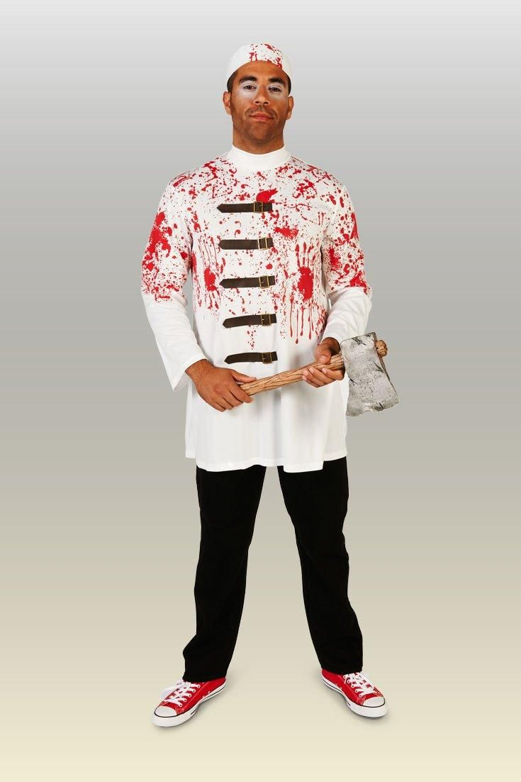Bloody Butcher Adult Halloween Costume Cause a panic at the next costume party when you arrive  sc 1 st  Pinterest & Bloody Butcher Adult Halloween Costume Cause a panic at the next ...