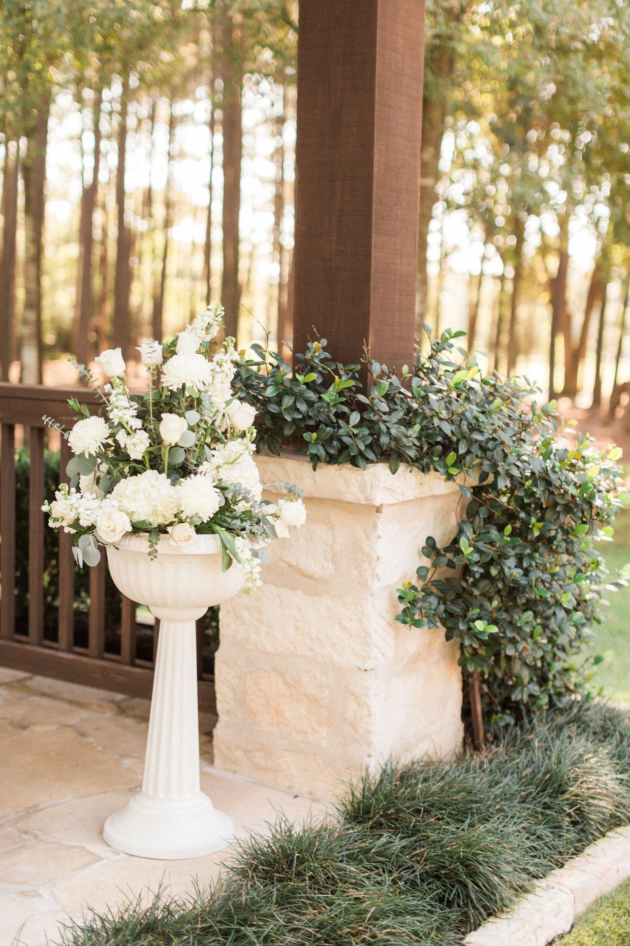 Outdoor Wedding Floral Arrangements White Outdoor Wedding