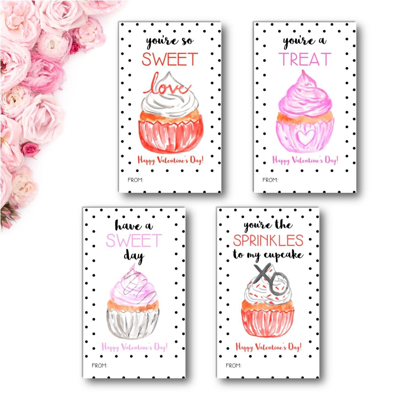 Cupcake Valentine S Day Cards