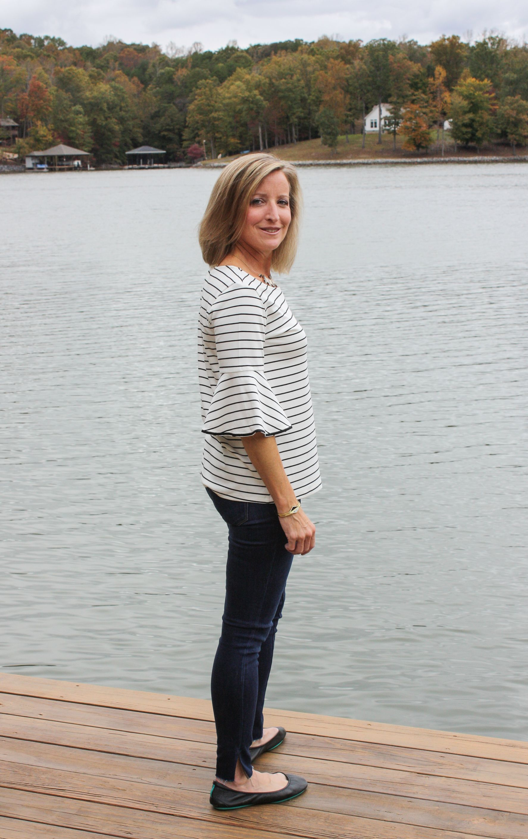 d608ceec5fb8 Stitch Fix Review for November 2018 - Market   Spruce Marybell Bell Sleeve  Knit Top with Sam Edelman the Kitten Mid Rise Ankle Scissor Hem Skinny Jean  ...