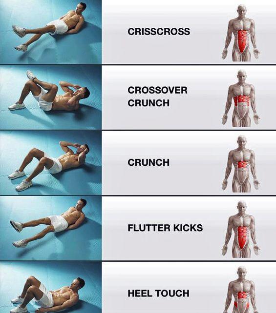 5 Übungen zum Anspannen verschiedener Muskeln im Magen #stomachexercises
