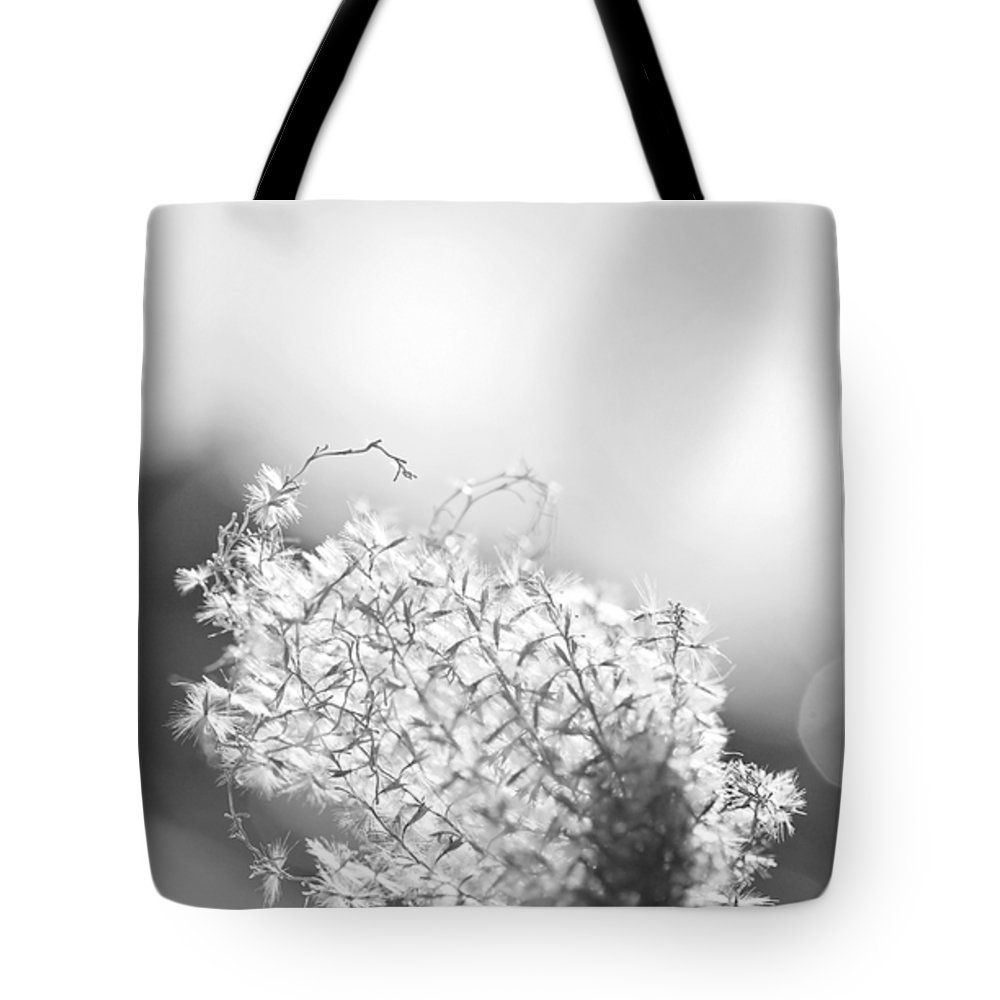 """Warm Breeze - Black and White Version Tote Bag 18"""" x 18"""" by Becca Buecher"""