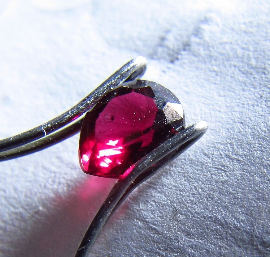 Stunning NATURAL Arizona Chrome Pyrope Ruby Red Ant hill Garnet Pear Gemstone #JewelsRoughGems