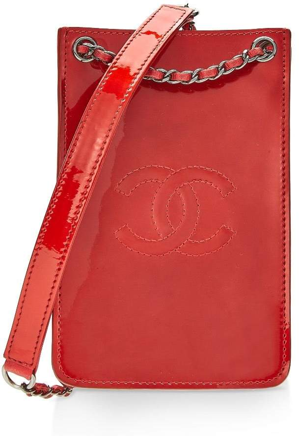fd5fa6c54 Chanel Red Patent Leather Crossbody Phone Holder in 2019 | Products ...