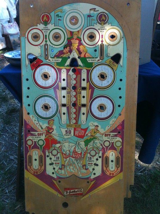 Vintage Pinball Graphics Vintage Pinball Games Arcade