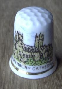 5f1a3ee3f3437 Canterbury Cathedral Bone China Thimble