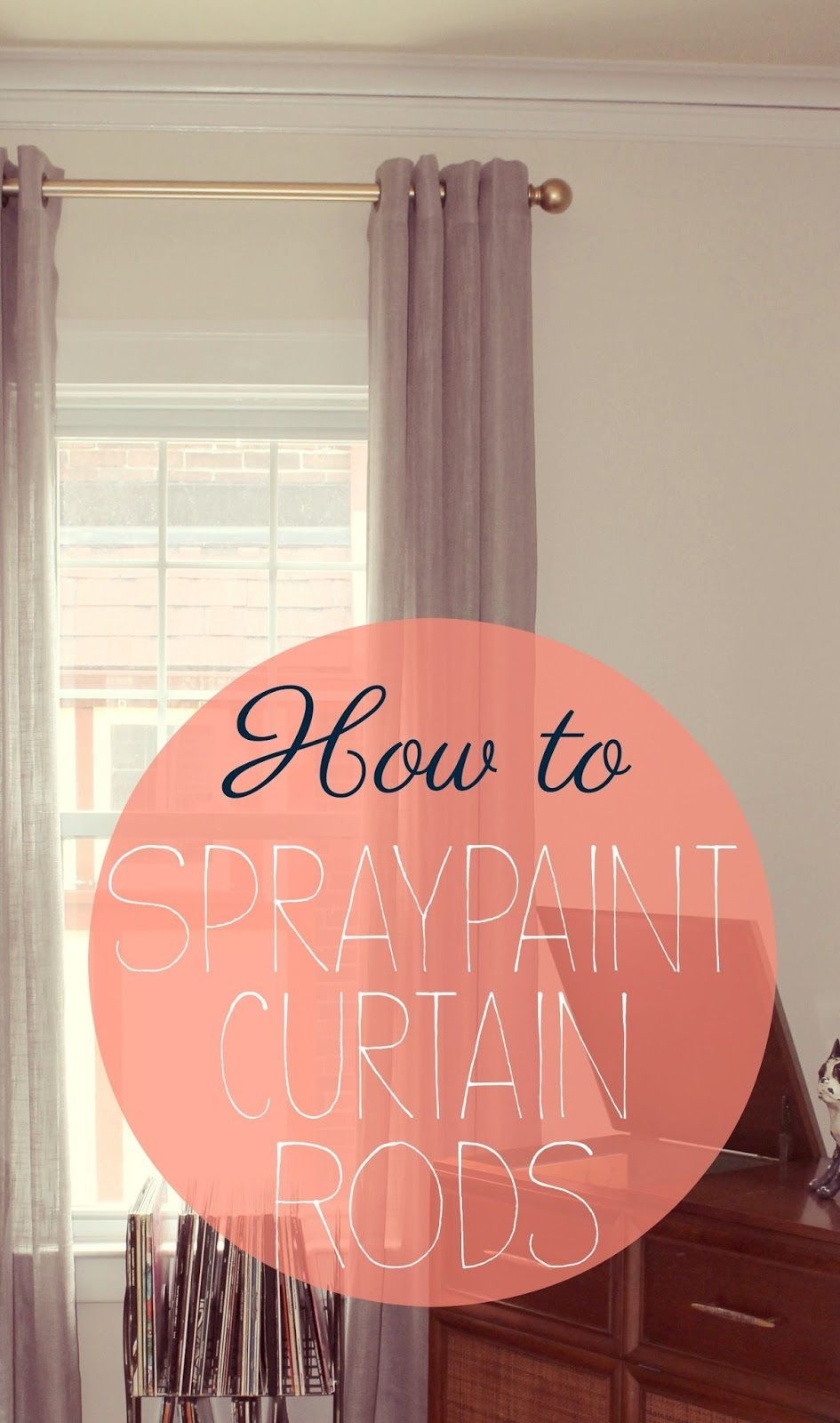 How To Spray Painting Curtain Rods Painted Curtains Diy