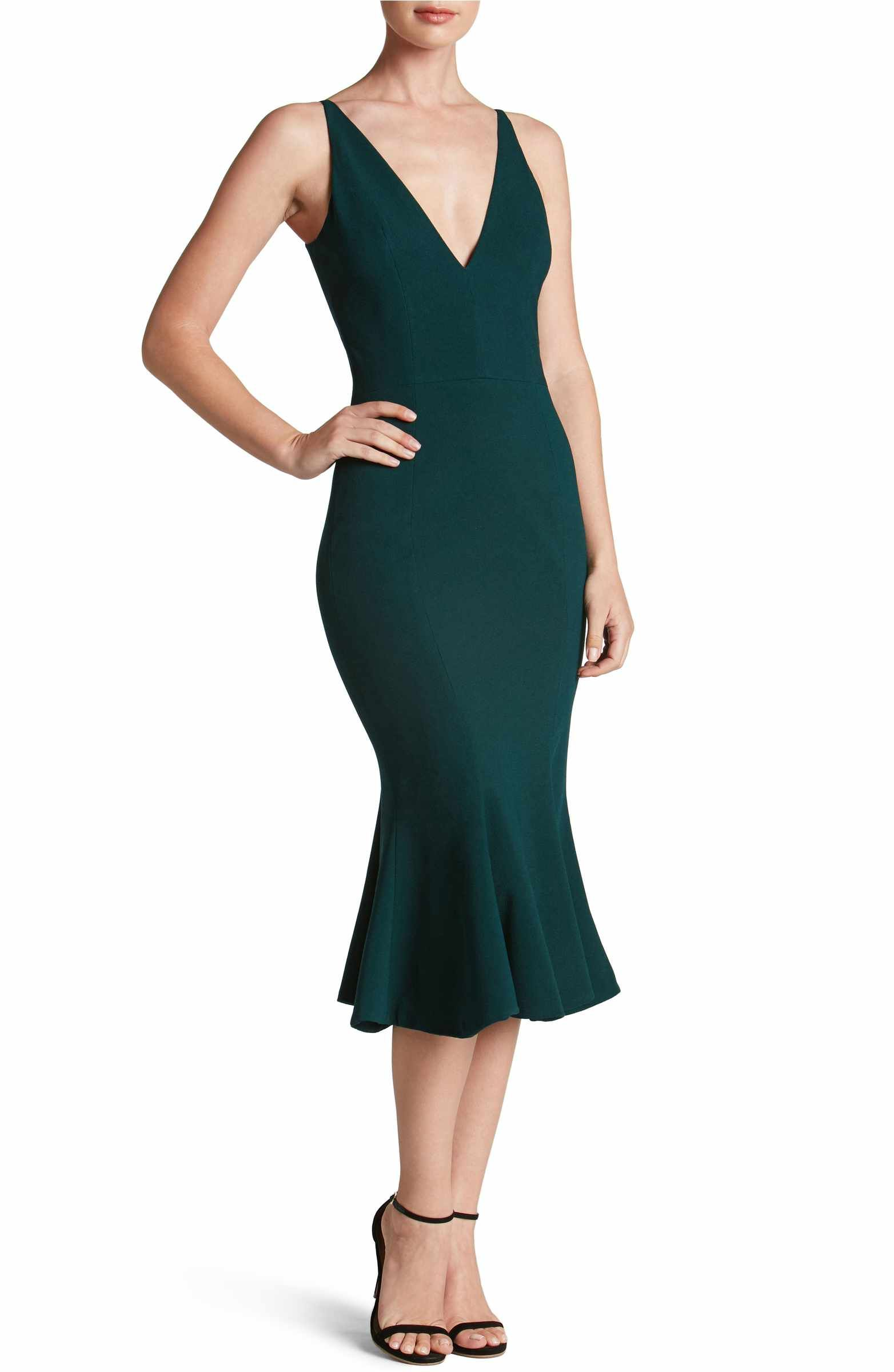 Nordstrom - Dress the Population Isabelle Crepe Mermaid Dress ...