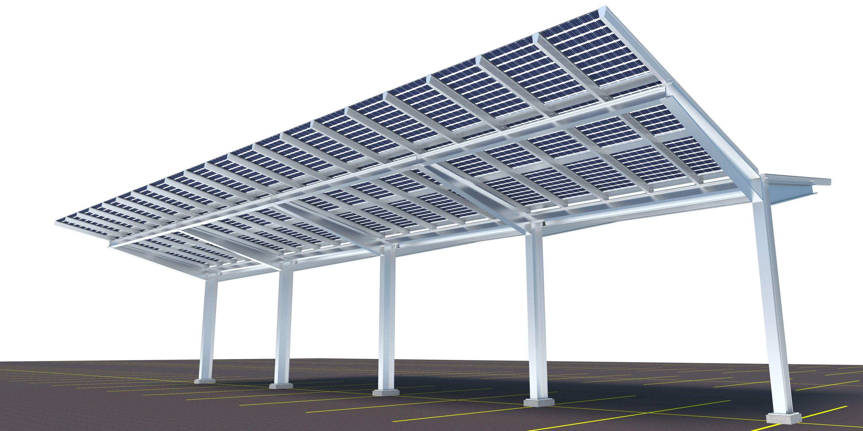 Sunrail Carport Fully Sealed Bifacial Pv Carport Carport Pv Panels Home Decor