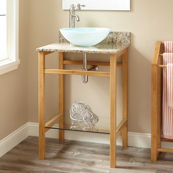 24 Story Bamboo Console Vessel Sink Vanity Vessel Sink Vanity Console Sink Bathroom Furniture
