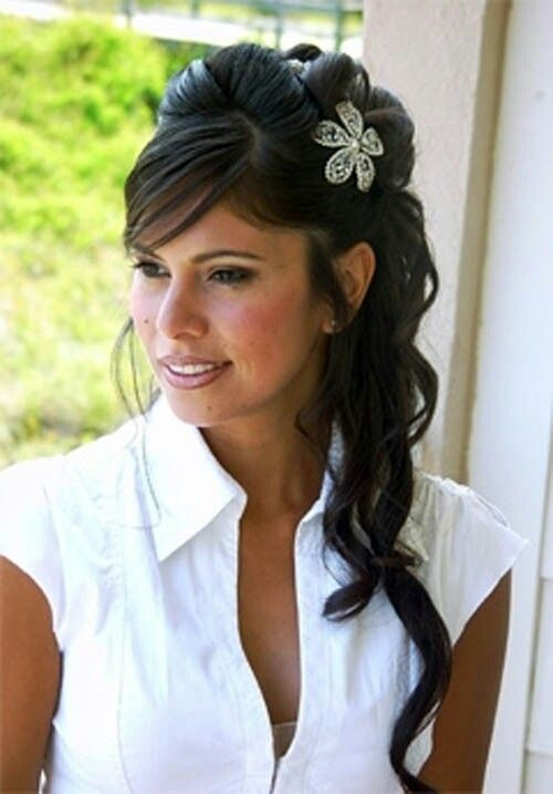 Bride Hair Hair Pinterest Wedding Weddings And Indian - Hairstyle for engagement girl