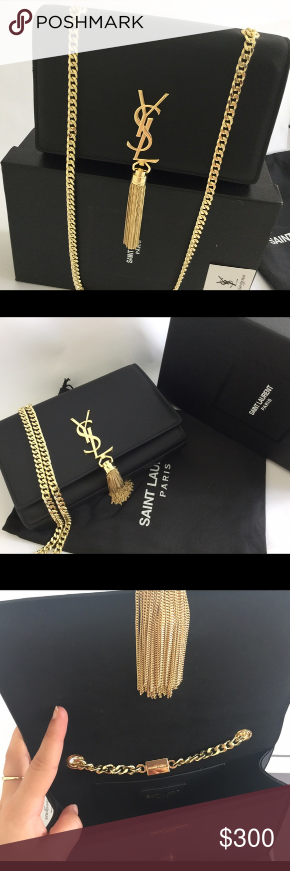 Amazing AAA Single Original Quality This is the AAA single original quality. Meaning it's greater than high quality Rep. Actual pictures, comment if interested in seeing more pictures of something specific. Comes with box, dust bag and receipt. Get it here or on my website for $245 Saint Laurent Accessories