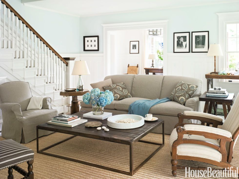A Simple ShakerStyle Cottage Wainscoting Living rooms and Armchairs