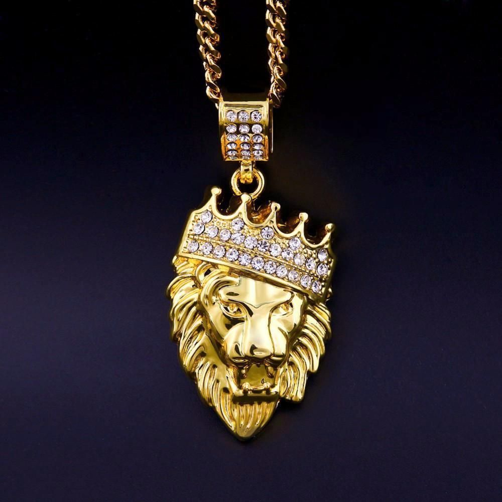 cb6689b0366d6 Iced Out 18k Gold Lion King Pendant (W/ Chain) | I'd wear that ...