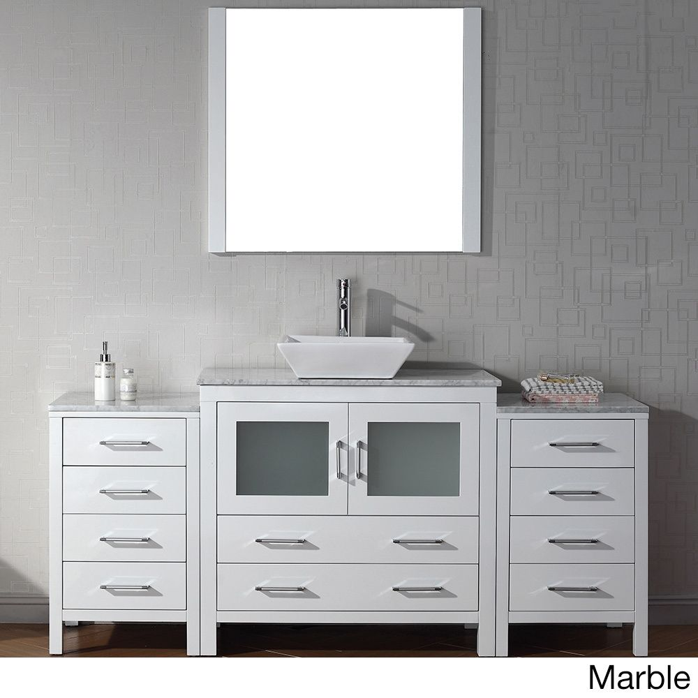 Virtu USA Dior 68 Inch Single Sink Vanity Set In White (Dior 68