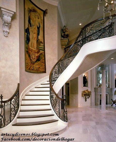 Dise o de barandas para escaleras by artesydisenos - Escaleras de jardin ...