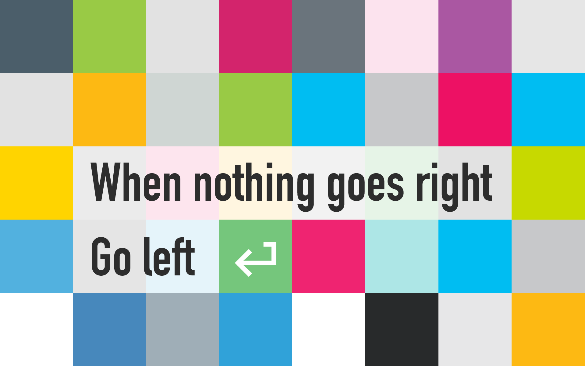 Colorful text quote