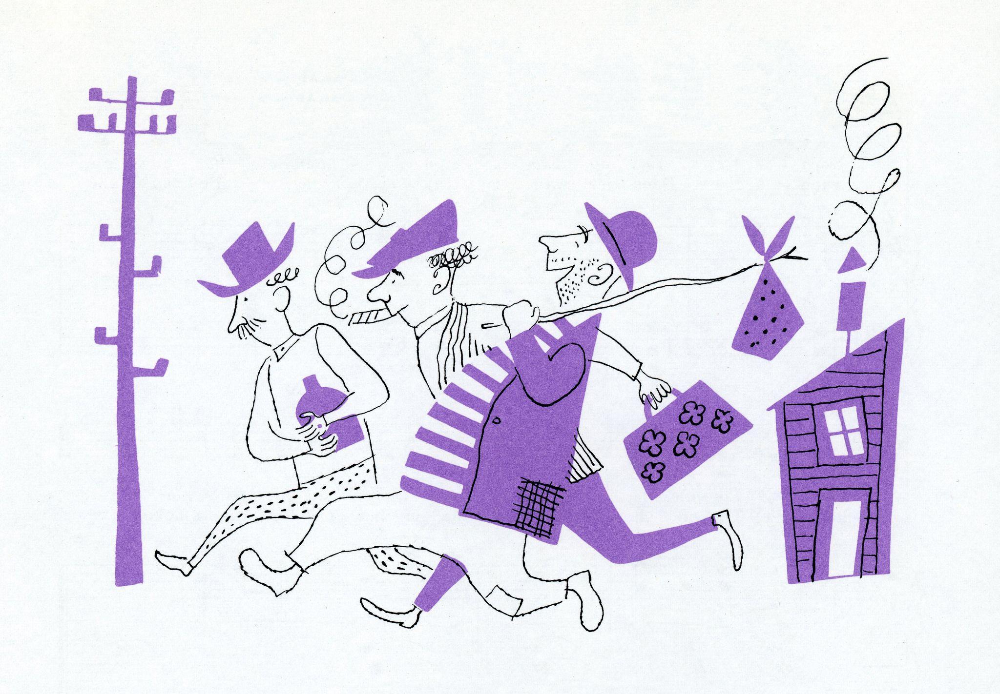 https://flic.kr/p/z4ECHk | illustration by Aurelius Battaglia | The Fireside Book of Favorite American Songs (1952)
