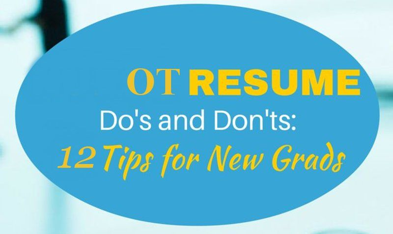 Occupational Therapy Assistant Resume \u2013 Format and Tips to Make It