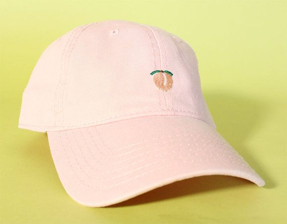 7a35a9a38d3 NEW Peach Dad Hat Baseball Cap low profile 100 % by BrainDazed ...