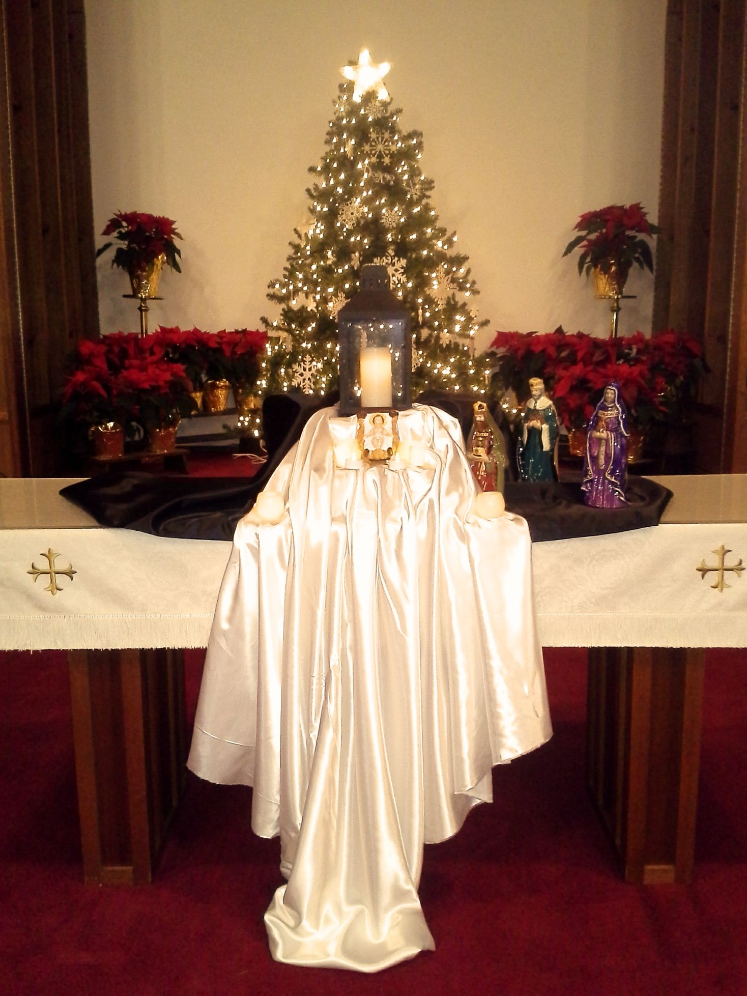 Church decorations for january - Altarscape For January 4 2015 Morrisville United Methodist Church Morrisville Pa