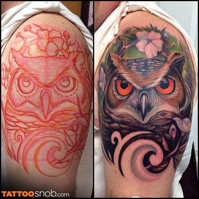 I Don T Give A Hoot Tattoosnob Com Realistic Owl Tattoo Owl