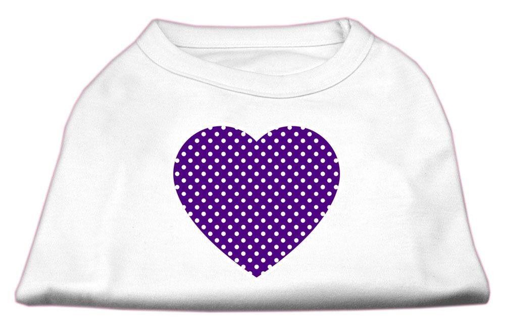 Purple Swiss Dot Heart Screen Print Shirt