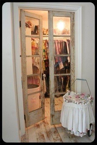 12 Great Ideas For Upcycling Old Doors Closet Doors Doors And Bath