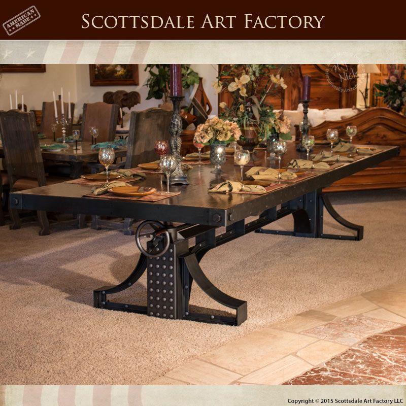 Handmade Dining Tables  Industrial Revolution Table  Airt2015 Impressive Handmade Dining Room Tables Decorating Inspiration