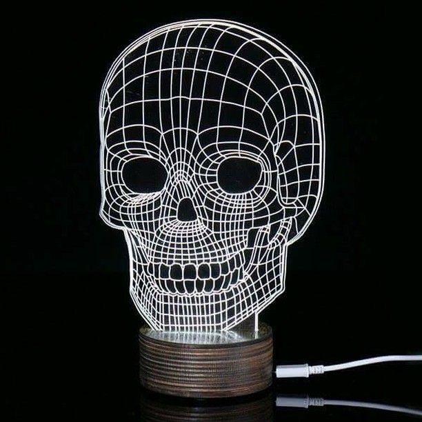 Skull Led Lamp 20 24 Including Shipping Lampe Phare Lampe 3d Led