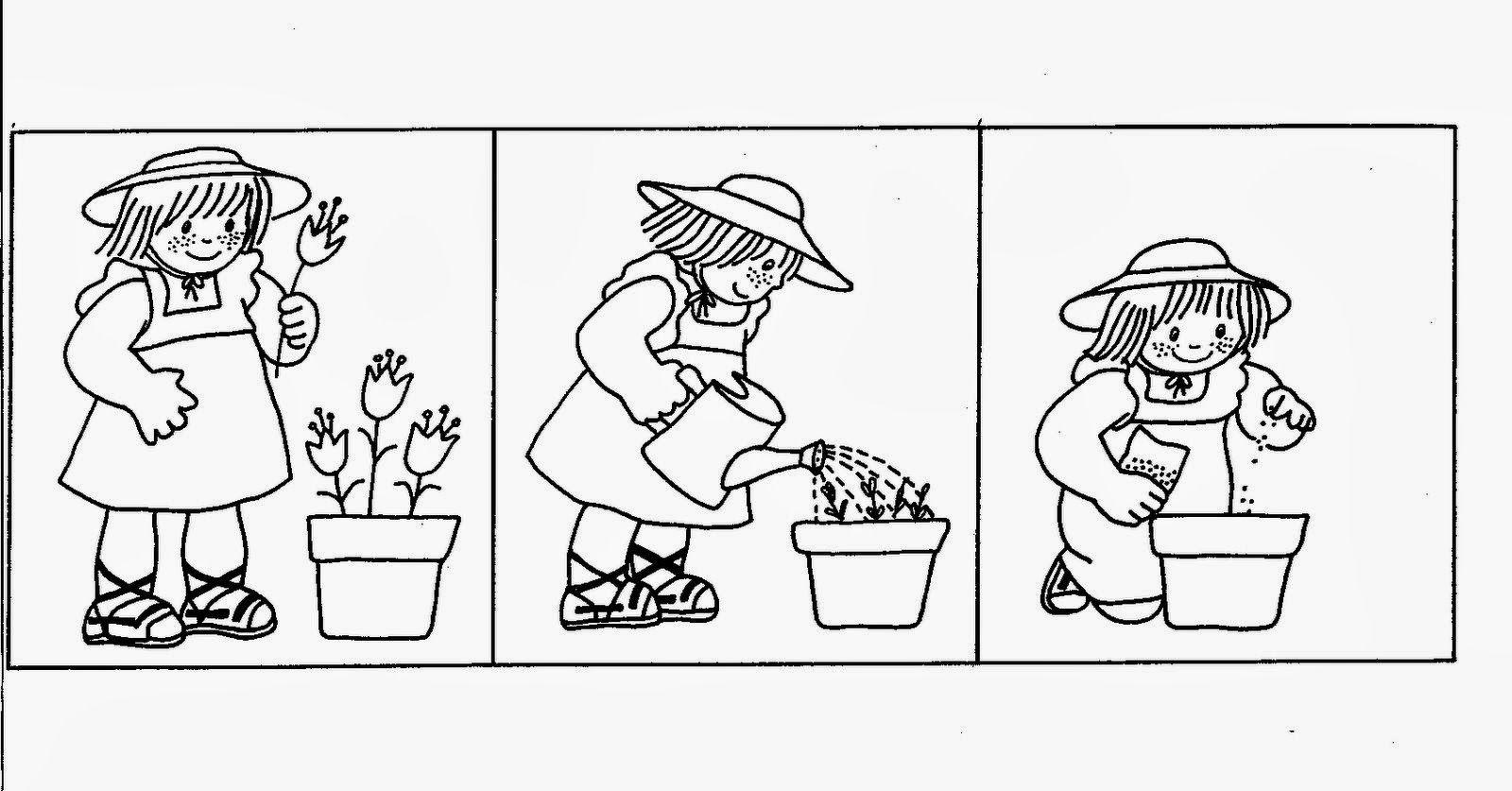 sembrar plantar secuencia temporal jardinera | writing