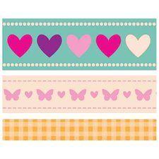 Butterfly Kisses Printed Ribbon 3.28 Yards (3 Meters)-3 Designs/1 Meter Each  4.99