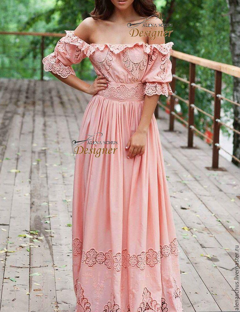 Купить Идеальное летнее платье - кремовый, однотонный, платье летнее, Платье нарядное, сарафан летний