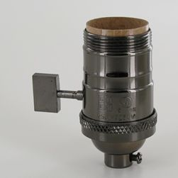 Uno Threaded Single Turn On Off Medium Base Cast Brass
