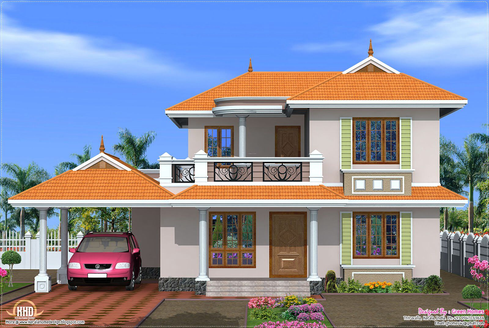Home design beautiful indian home designs pinterest for Bungalow plans and elevations