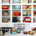Kristen's Out-in-the-Open Kitchen: ...which works especially well for colorful, vintage pieces!