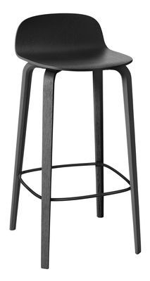 Muuto Visu Bar Stool Black Made In Design Uk Designer Bar Stools Bar Stools Black Bar Stools