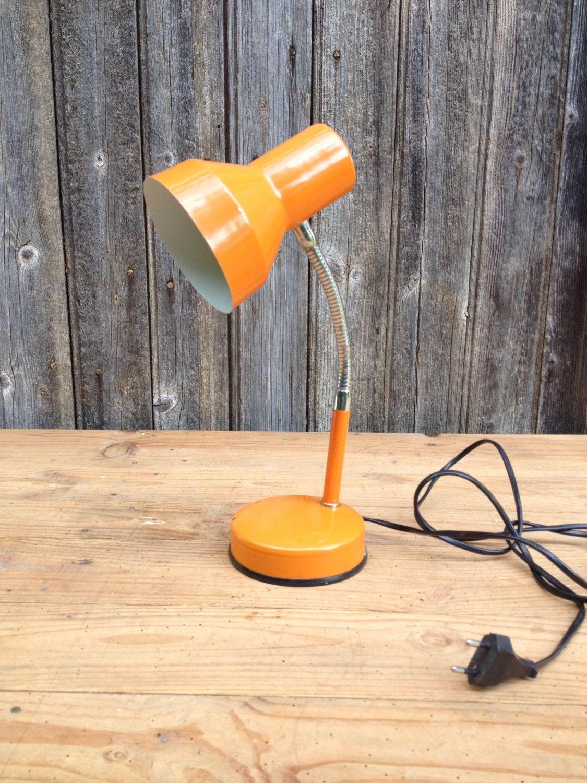 Desk Lamp Or Bedside Lamp Orange On Italian Design 1970 Veneta Lumi Desk Lamp Lamp Bedside Lamp