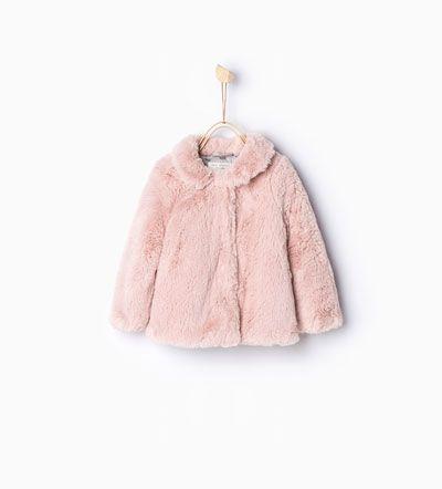 Casaco Pelo Casacoes Bebe Rapariga Criancas Kinderbekleidung Madchen Madchen Kleidung Zara Winterjacke